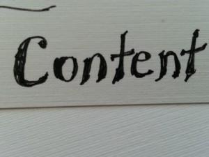 content, content, content