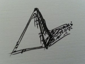 pyramid with shadow