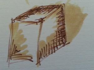 brown cube