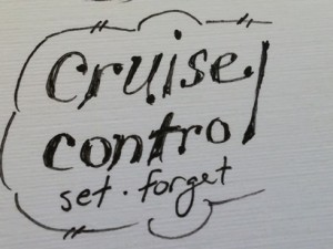 cruise control. set. forget.