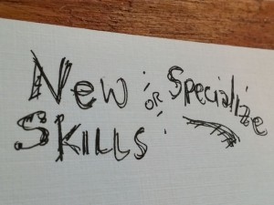Acquire new skills or specialize?