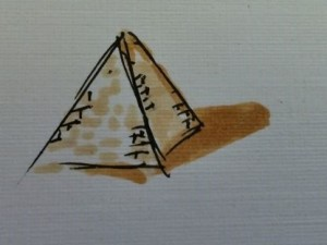 pyramid with brown shade