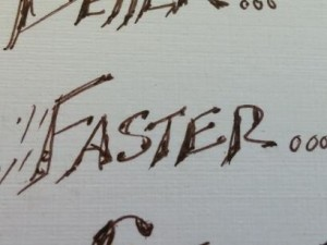 Faster...